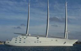 Sailing Yacht 'A' by Karle Horn via WikiMedia Commons