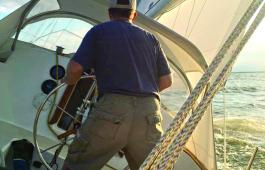 Sailing in the Sippy Cup overnight race from the North East River to Annapolis.