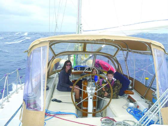"""Kicking back in the cockpit aka """"porch."""" Tiny house vs. sailboat"""