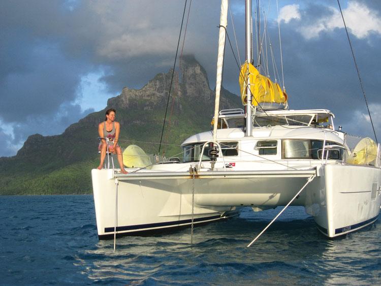 Crew soaking up the beauty of Bora Bora