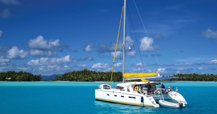 At anchor in French Polynesia