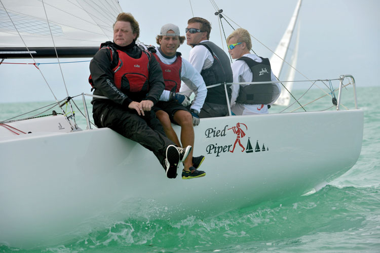 13-year old skipper extraordinaire Gannon Troutman. Photo by Allen Clark for Photoboat
