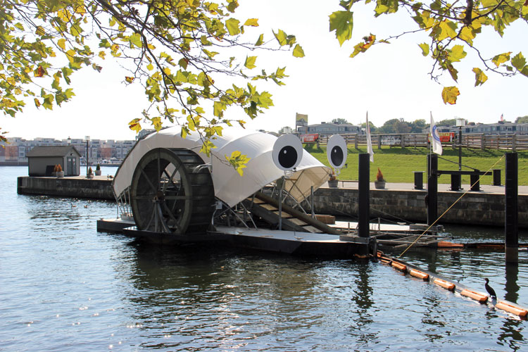 Since 2014, Mr. Trash Wheel has removed over one million pounds of trash from the Baltimore Harbor. Find him near Pier Six Pavilion.