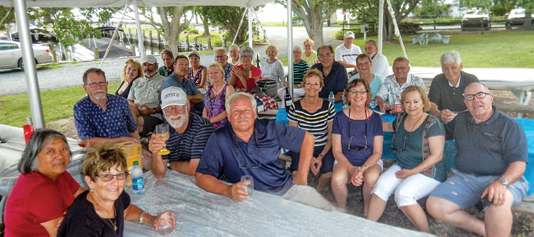 """Wilmington Sail and Power Squadron members enjoy their """"Wrap Party"""" in Oxford, MD."""